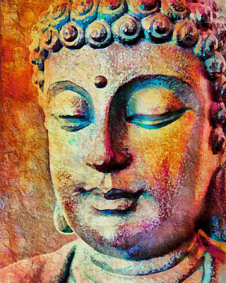 Digital Art - Meditation Buddha by Ann Powell