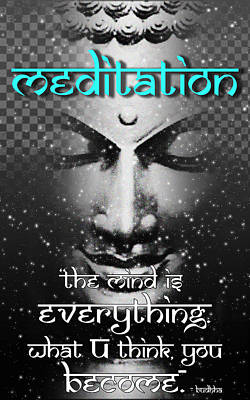 Digital Art - Meditation - Buddha by RSRLive Arts