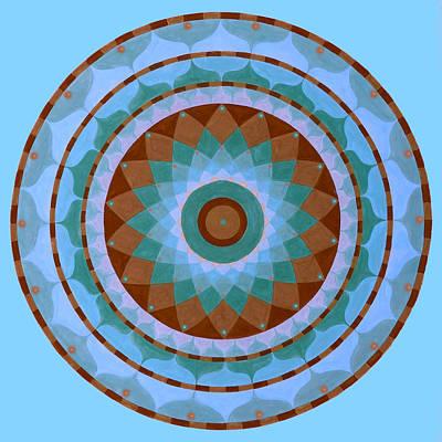 Meditation Mandala Art Print by Vlatka Kelc