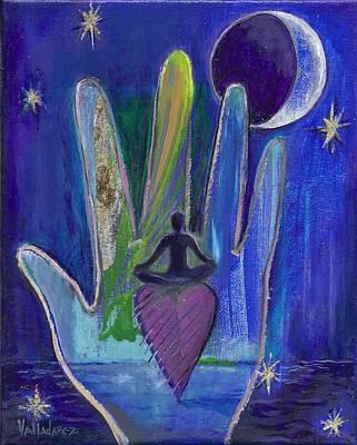 Night Out Mixed Media - Meditation by Maria Valladarez
