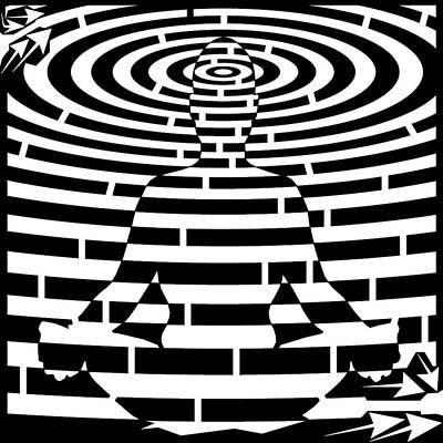 Yfrimer Drawing - Meditation Maze  by Yonatan Frimer Maze Artist