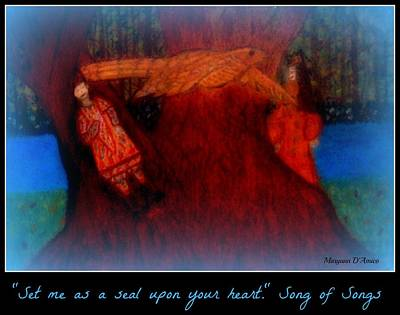 Meditation Number 3 Song Of Songs Art Print by Maryann  DAmico