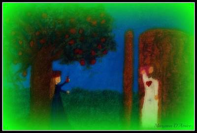 Meditation Number 7 On The Song Of Songs Art Print by Maryann  DAmico