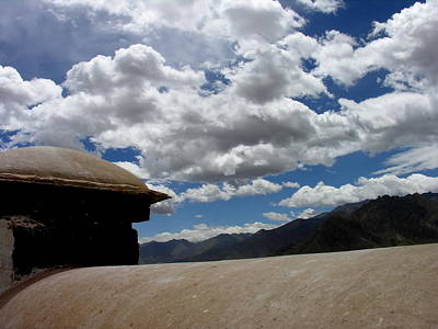 Photograph - Meditation - Tibet - Lhasa - View From Potala Palace by Jacqueline M Lewis