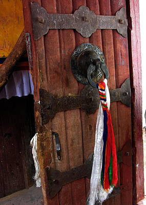 Photograph - Meditation - Tibet - Potala Palace Door by Jacqueline M Lewis