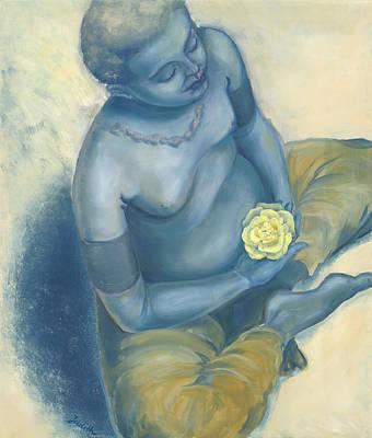 Meditation With Flower Original by Judith Grzimek