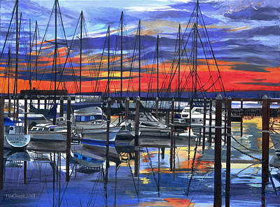 Meditations On A Marina Original by Terry Cox Joseph