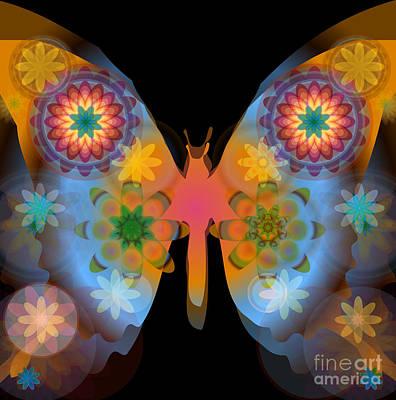 Digital Art - Meditative Butterfly by Shelley Myers