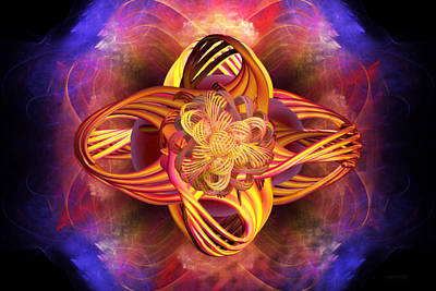 Digital Art - Meditative Energy by Elizabeth S Zulauf