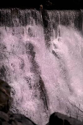 Otter Wall Art - Photograph - Meditative Otter Lake Waterfall  by Betsy Knapp