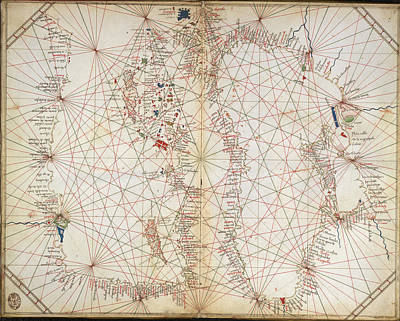 Cartography Photograph - Mediterranean And Black Seas by British Library