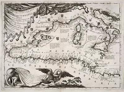 Mediterranean Area Art Print by British Library