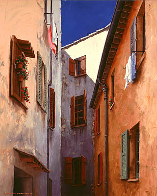 Realistic Painting - Mediterranean Blue by Michael Swanson