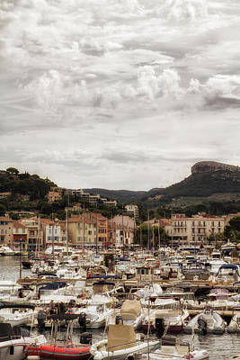 Mediterranean Coastal Town Of Cassis Art Print by Georgia Fowler
