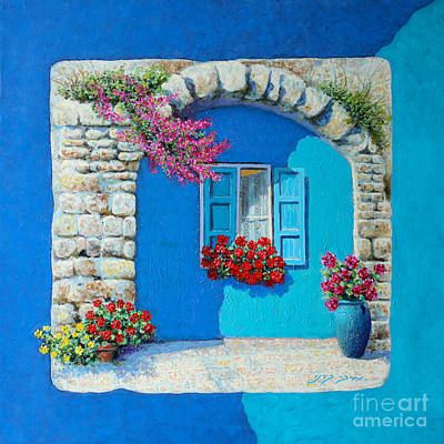 Painting - Mediterranean Colorful  by Miki Karni
