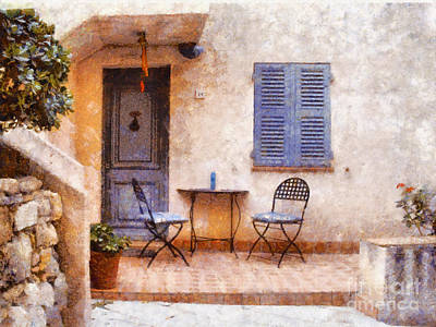 Warm Painting - Mediterranean House by Pixel  Chimp