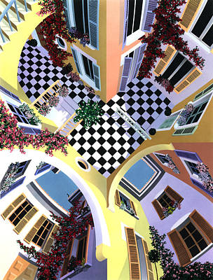 Mediterranean Illusion Art Print by David Holmes
