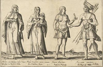 Maltese Drawing - Mediterranean People Around 1580, Abraham De Bruyn by Abraham De Bruyn And Joos De Bosscher