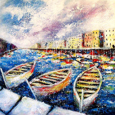 Painting - Mediterranean Port Colours by K McCoy