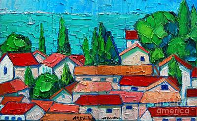 Montenegro Painting - Mediterranean Roofs 1 2 by Ana Maria Edulescu