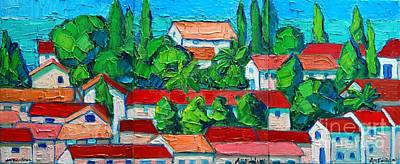 Montenegro Painting - Mediterranean Roofs 2 3 4 by Ana Maria Edulescu