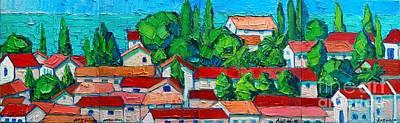 Montenegro Painting - Mediterranean Roofs by Ana Maria Edulescu