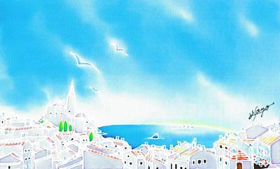 Painting - Mediterranean Summer by Hisayo Ohta