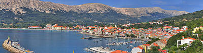 Photograph - Mediterranean Town Of Baska Panorama by Brch Photography