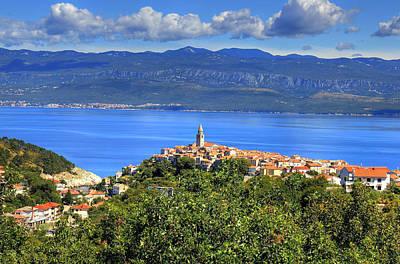 Photograph - Mediterranean Town Of Vrbnik Island Of Krk Croatia by Brch Photography
