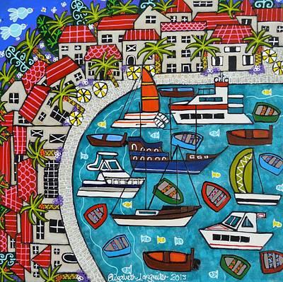 Painting - Mediterranean Village  by Elizabeth Langreiter