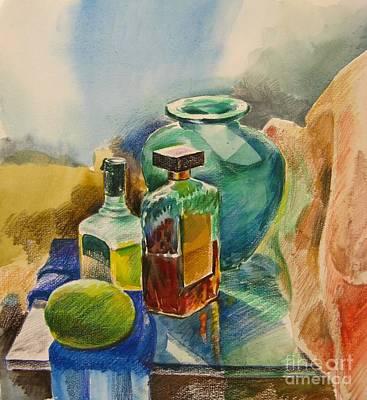 Painting - Mediterranean Winter Still Life  by Anna Lobovikov-Katz
