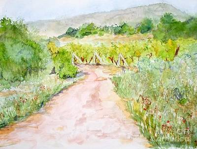 Medjugorje Path To Apparition Hill Art Print by Vicki  Housel