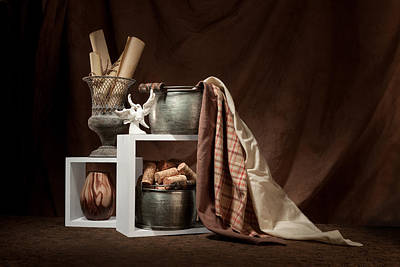 Medley Of Textures Still Life Print by Tom Mc Nemar