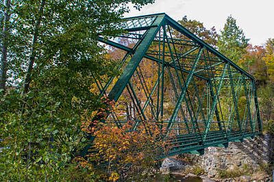 Photograph - Medleyville Iron Bridge by Guy Whiteley