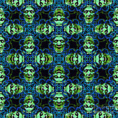 Medusa Abstract 20130131p90 Art Print by Wingsdomain Art and Photography
