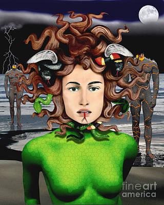 Medusa Digital Art - Medusa by Keith Dillon