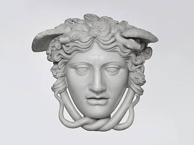 Medusa Marble Head Photograph  Original by Olga  Chertova