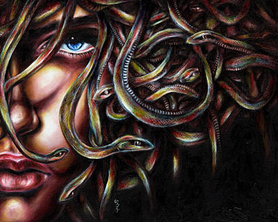 Surrealism Royalty Free Images - Medusa No. two Royalty-Free Image by Hiroko Sakai