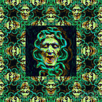 Medusa's Window 20130131p38 Art Print by Wingsdomain Art and Photography