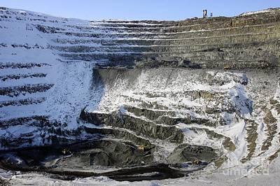 Medvezhy Ruchei Quarry In Siberia Art Print by RIA Novosti