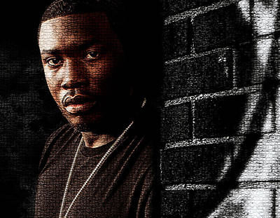 Digital Art - Meek Mill Rapper by Marvin Blaine