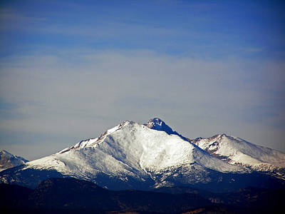 Photograph - Meeker And Longs Peak Massive In Snow by Thomas Samida