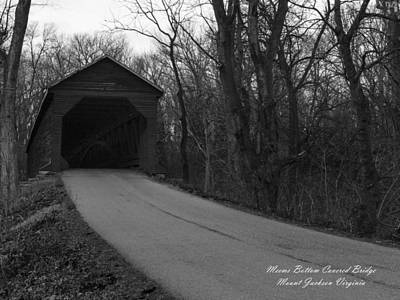 Photograph - Meems Bottom Covered Bridge by David Lester