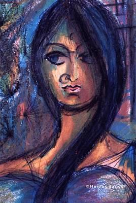 Painting - Meena by Hemu Aggarwal