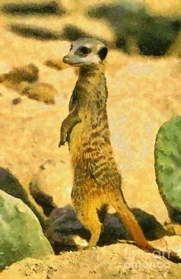 Meerkat Painting - Meerkat by George Atsametakis