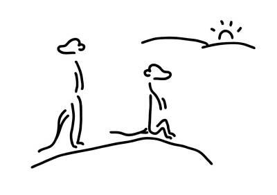 Animals Drawings - Meerkat Suricat Overseer by Lineamentum
