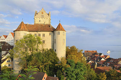 Meersburg Castle And Town Germany Art Print by Matthias Hauser