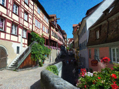 Trussed Painting - Meersburg Ger4076 by Dean Wittle