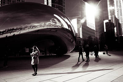 Friends Meeting Photograph - Meet Me At The Bean by Lauri Novak