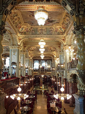 Photograph - Meet Me For Coffee - New York Cafe - Budapest by Lucinda Walter
